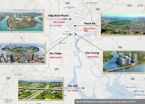 Đất cù lao, bán đảo tại Sài Gòn tăng giá chóng mặt