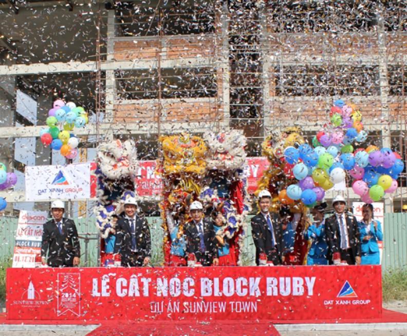 Sunview Town cất nóc tòa nhà block Ruby