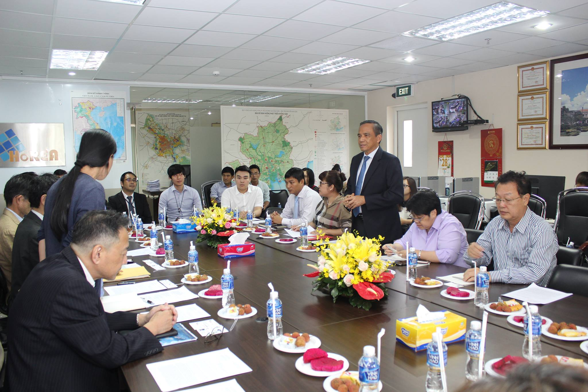 Ban lãnh đạo HoREA làm việc với Tổng Cục Đất đai và Cơ quan Tái thiết Đô thị Nhật Bản, ngày 28 tháng 6 năm 2017